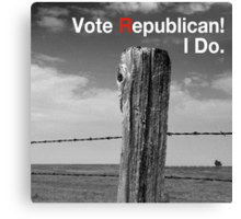 Vote Republican! 10 Canvas Print