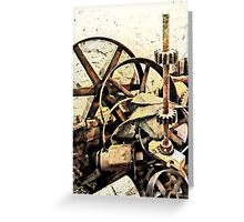 Wheels and Gears in Grist Mill Greeting Card