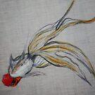 Goldfish Pond (close up #5) by Ming  Myaskovsky