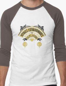 Jules Verne's  Worlds - Hetzel Inspiration Men's Baseball ¾ T-Shirt