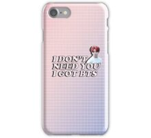 """""""I Don't Need You I Got BTS"""" Typography Graphic iPhone Case/Skin"""