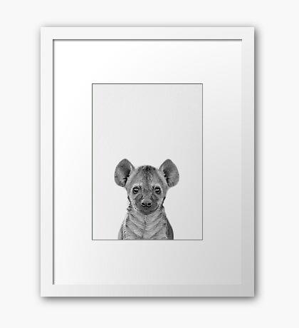 Baby Hyena Framed Print