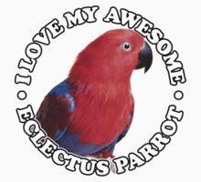 Eclectus | Ekkie | Eclectus Parrot | Parrot One Piece - Short Sleeve