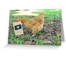 Curious Hen Greeting Card
