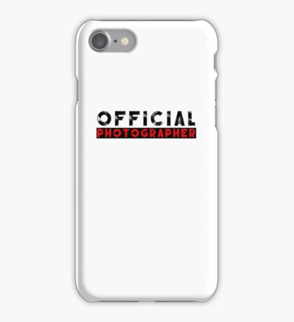 official photographer iPhone Case/Skin