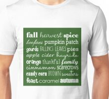 Fall Celebration in Green Unisex T-Shirt