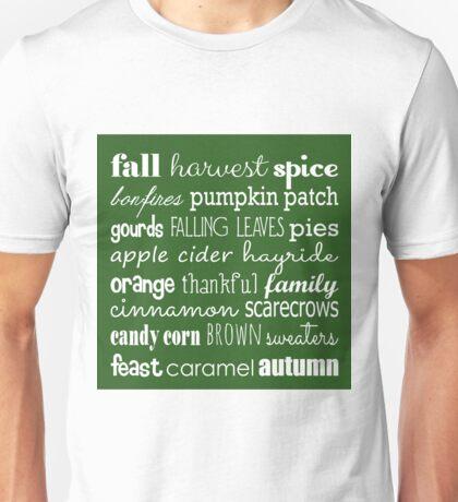 Fall Celebration in Green Unisex T-Shirt