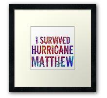 I Survived Hurricane Matthew  Framed Print