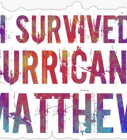 I Survived Hurricane Matthew  Sticker