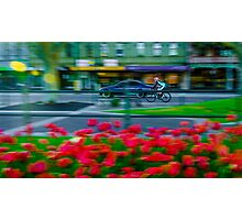 Early Morning Cyclist on Pall Mall Photographic Print