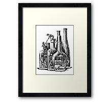 Rescue surreal ink pen drawing Framed Print
