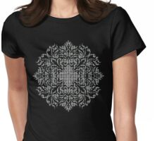 Woven - black & white Womens Fitted T-Shirt