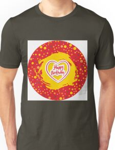 Happy Birthday Circle Unisex T-Shirt