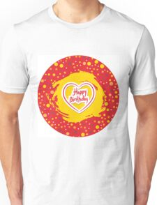 Happy Birthday Circle Unisex T-Shirt