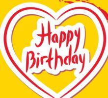 Happy Birthday Circle Sticker