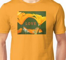 LOVE (with Golden Poppies) Unisex T-Shirt