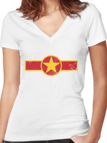 Military Roundels - Vientam Airforce Women's Fitted V-Neck T-Shirt