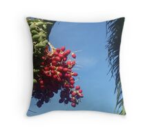 Palm Berries Throw Pillow
