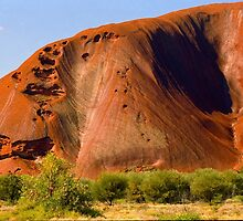 The Face Of Uluru Ayres Rock by Ronald Rockman