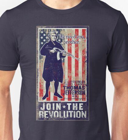 Jefferson Revolution Propaganda Unisex T-Shirt
