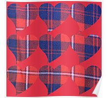 Heart plaid Poster