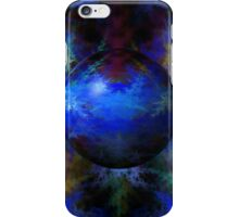 Abstract Blue Globe iPhone Case/Skin