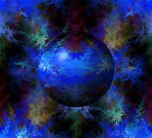 Abstract Blue Globe by Henrik Lehnerer