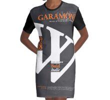 G A R A M O N D - G R E Y Graphic T-Shirt Dress