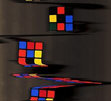 Rubix cube melting by tenagibson