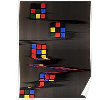 Rubix cube melting Poster