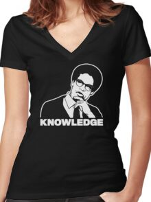 Sowell Knowledge Women's Fitted V-Neck T-Shirt