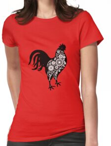 Steampunk rooster Womens Fitted T-Shirt