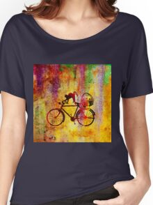 Cat and Bicycle Women's Relaxed Fit T-Shirt