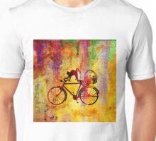 Cat and Bicycle Unisex T-Shirt