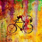 Cat and Bicycle by Vitta
