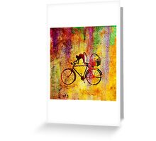 Cat and Bicycle Greeting Card