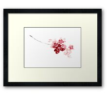 Cherry Blossom Floral Kids Room Art Print Poster Framed Print