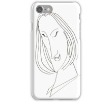 Abstract sketch of face VIII iPhone Case/Skin