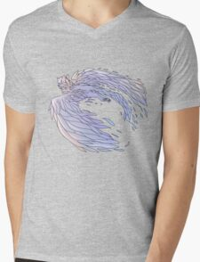 Pastel Wings Mens V-Neck T-Shirt