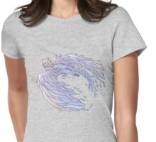 Pastel Wings Womens Fitted T-Shirt