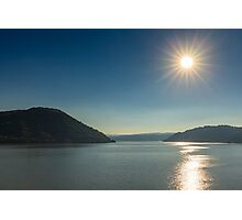 Danube river and mountains Photographic Print