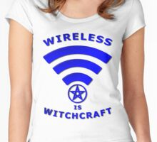 Wireless is Witchcraft Women's Fitted Scoop T-Shirt