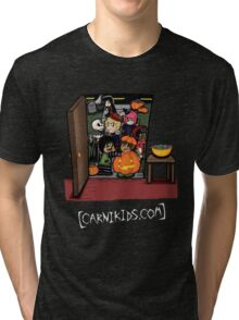 Carnikids: Trick-or-Treat Color (Dark) Tri-blend T-Shirt