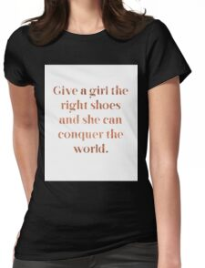 Rose gold shoe love Womens Fitted T-Shirt