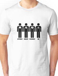 Optimist, Pessimist, Realist, Pilot Unisex T-Shirt