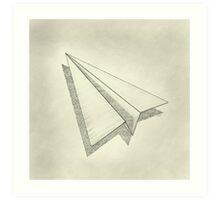 Paper Airplane 19 Art Print
