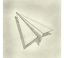 Paper Airplane 19 Photographic Print
