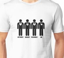 Optimist, Pessimist, Realist, Fighter Pilot Unisex T-Shirt