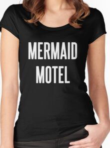 MERMAID MOTEL 2 Women's Fitted Scoop T-Shirt