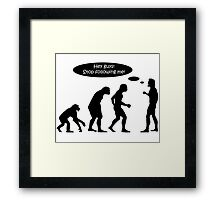 Evolution Stop Following Me Framed Print
